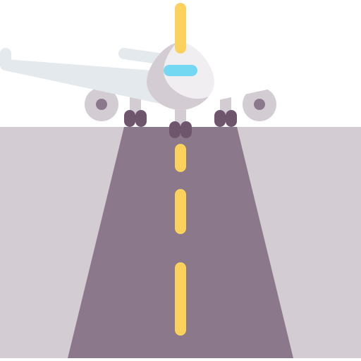 plane on runway icon